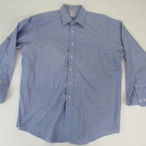 Men's Brooks Brothers 346 Blue/White Striped Shirt